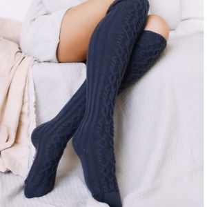 Cabal knit over the knee socks